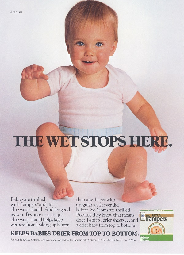 Pampers Anzeige 1987