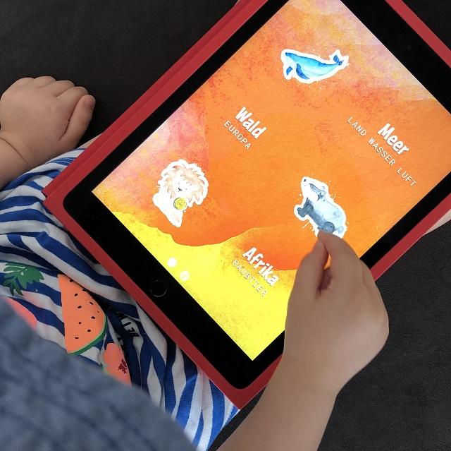 Lernspiel-App für Tablet