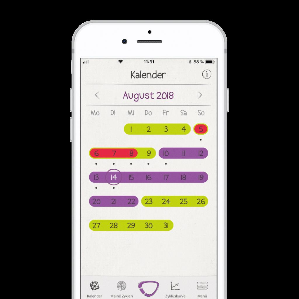 Kalenderansicht_mySense App