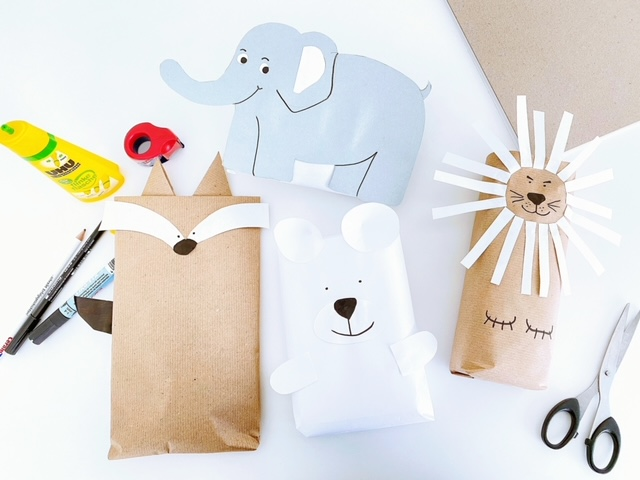 Tierische-Geschenkeverpackungen