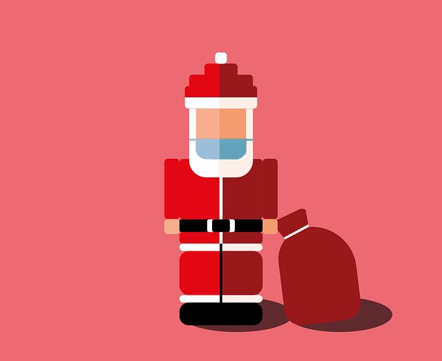 Weihnachtsmann-mit-Mundschutz