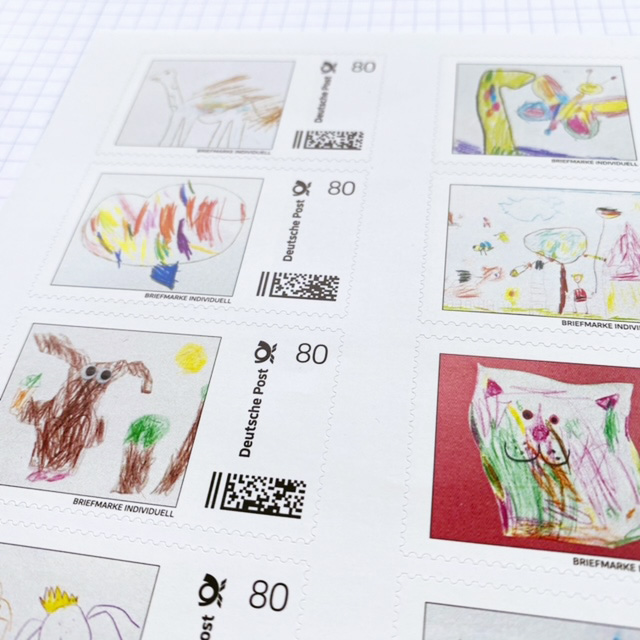 Kinderbilder-als-Briefmarken-Design