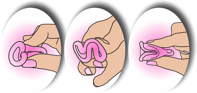 Menstruationstasse-richtig-falten